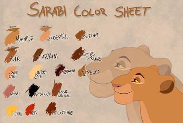 Sarabi color sheet by Takadk
