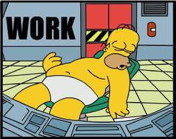 homer working by adsta