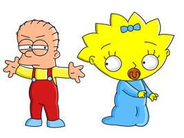 Stewie Simpson Maggie Griffin by adsta