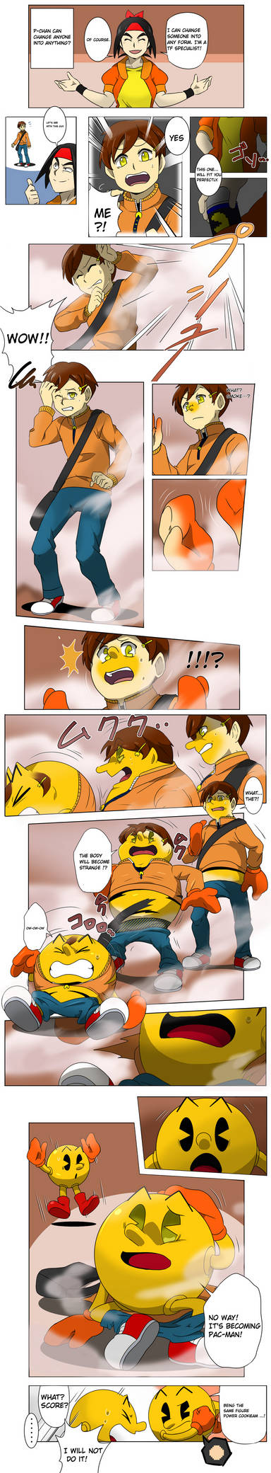 Pac-Man transformation by Spray-POKA