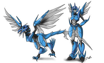 Microraptor Dinobot oc Commission gift by joselyn565