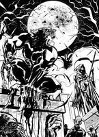 Werewolf in the night by OscarCelestini