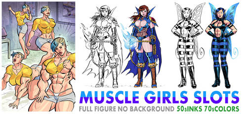 Muscle Girls special slots available by OscarCelestini