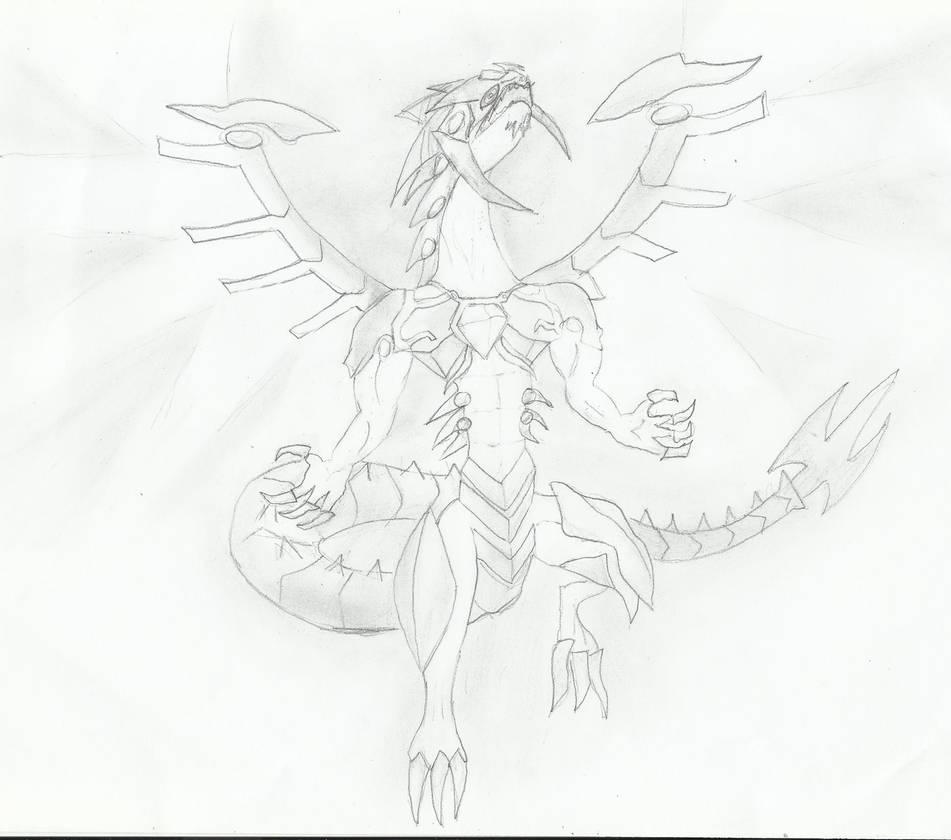 Galaxy eyes photon dragon drawing