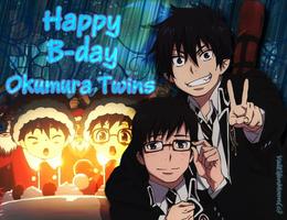Happy B-day Okumura Twins by ValElfenMoon