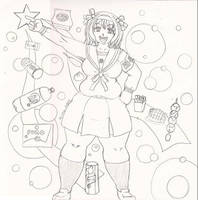 Crappy Haruhi drawing by xyxtlin