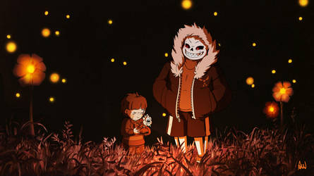 Undertale Halloween - The Grave of the FireFell by oennarts