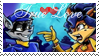 Stamp- Sly and Carmelita by Icequeenkitty