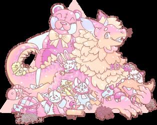 Owed art - Fluffy by Glowyshroom