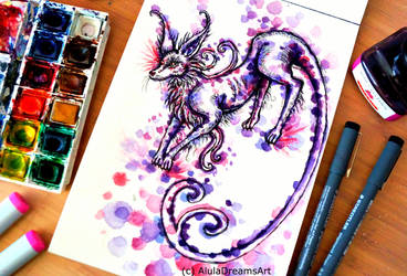 Espeon Eevie Evolution by AlulaDreamsArt