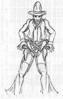 Old RPG art - Cowboy by JKCarrier