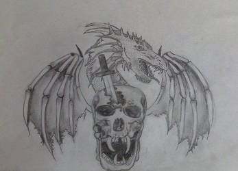 Dragon Skull Thingy by BeckySteele