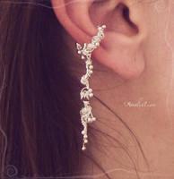 Silver ear cuff by AmeliaLune