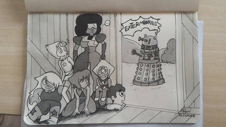 Steven Universe and Doctor Who INKtober 2016! by dedesamag