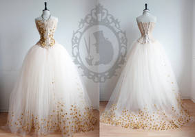 Dress *golden peach* by TheTailorwitch