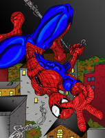 Spiderman Upside-Down:Color by MattyMo