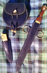 Sporran, dirk, and sgian dubh set by Half-Goat