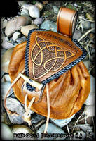 The Wounded Healer Knotwork Pouch by Half-Goat