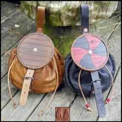 Viking Shield Pouches by Half-Goat