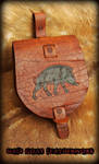 Pictish Boar Pouch by Half-Goat