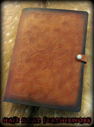 Pictish Spirals and Mistletoe Book Binder by Half-Goat
