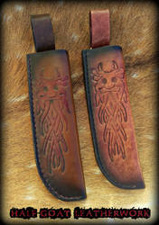 Odin Godmask Knife Sheaths by Half-Goat