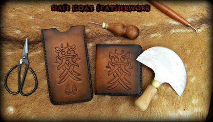 Odin Godmask wallet and phone case by Half-Goat