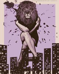 Lion Poster Girl by lpx37glasswar
