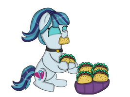 Sonata Loves Tacos (Equestria Girls) by Dulcechica19
