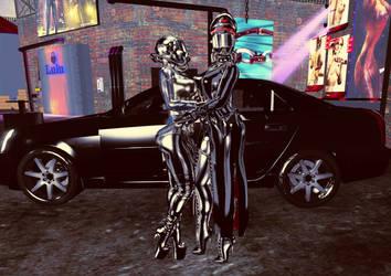 Me and my Chauffer 2 by LatexGoddessDraxnia