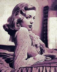 Lauren Bacall by peterpicture