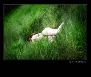 Pale Dreams in Summer Green II by LovittGirl