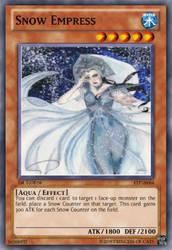 Snow Empress (Fake YGO Card) by FairyofThunder22