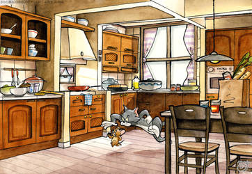 Tom and Jerry kitchen by pure1water