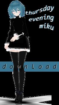 [mmd] thursday evening miku [model dl] by thos-beans
