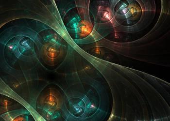 SteamPunk Fractal Clockwork Mechanism Fractal Art by Kseniya-Omega