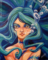 .:Mermaid:. oil on canvas by Mako-Fufu