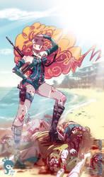 .: Sexy Zombie Slayer :. Commission by Mako-Fufu