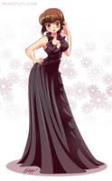 .: Commission:. Party Gown Nabiki by Mako-Fufu