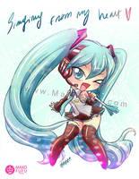 Chibi Miku Hatsune - Vocaloid by Mako-Fufu