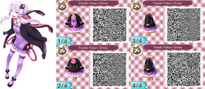 ACNL- Yuzuki Yukari Dress QR Code by ACNL-QR-CODEZ