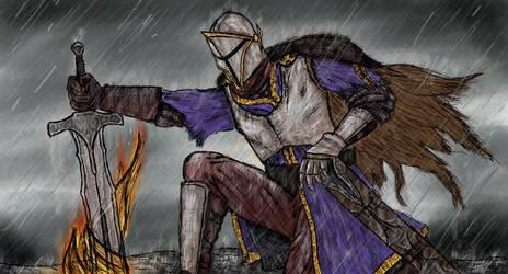 Kneeling Knight by seb211095