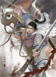 Zhao Yun at Changban by ilxwing