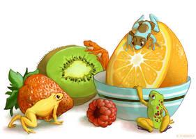 Fruit Frogs by Rowkey