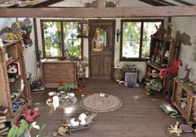 Treetop Creature Shop interior full 2 by Minifanaticus