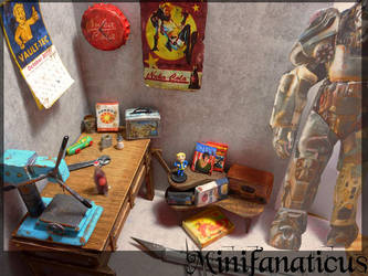 Fallout 4 Garage Diorama: 1:12th WIP by Minifanaticus