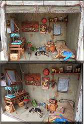 Fallout 4 Garage Diorama Full 1:12th by Minifanaticus