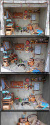 Fallout 4 Garage Diorama closeups 1:12th by Minifanaticus