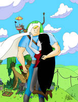 Adventure Time Finn and Marceline by Colonel-Hans-Landa