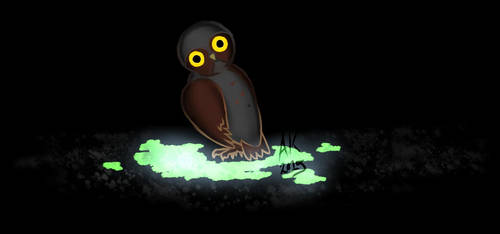 3. Some Spoopy Gloop That Glows Where An Owl Is by parameciumkid